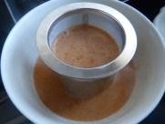 Bisque de langoustines & son oeuf mollet aux morilles