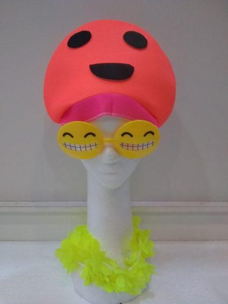 Gorro de emoji fluor