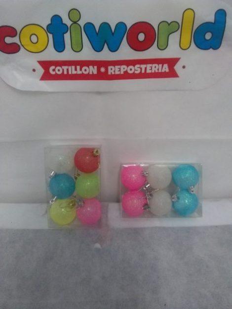 Bochas de colores x 6 unidades