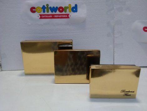 Cajas de Bombones finos metalizadas