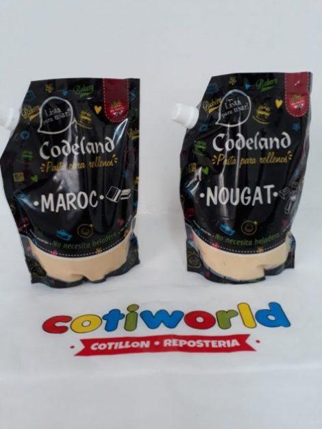 Pasta para relleno Codeland sabor: Marroc y Nougat