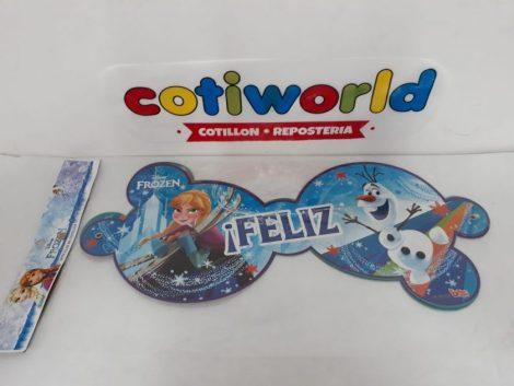 Banderin de carton Frozen