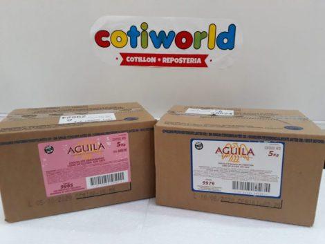 Caja de chocolate Aguila en barra x5kg ( semi-amargo y blanco)