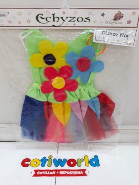 Disfraz de flor para nenas del talle 1 al 3