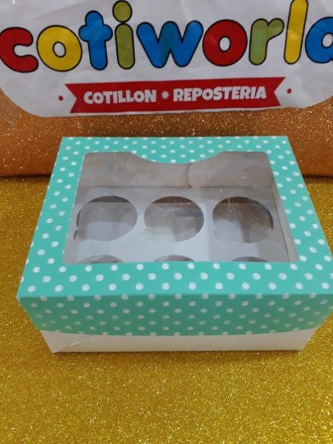 Caja decorada para muffins x6 unidades