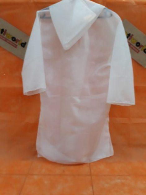 Tunica blanca y negra con capucha