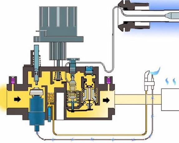 Схема автоматического клапана