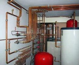 система отопления с медными трубами