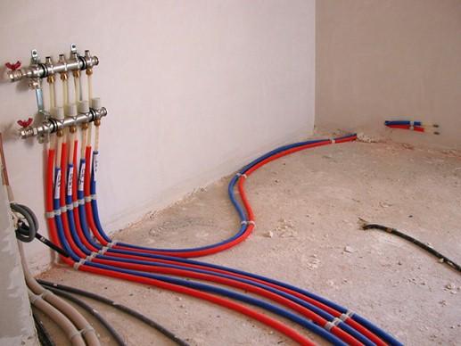 коллекторный тип разводки отопления котеджа