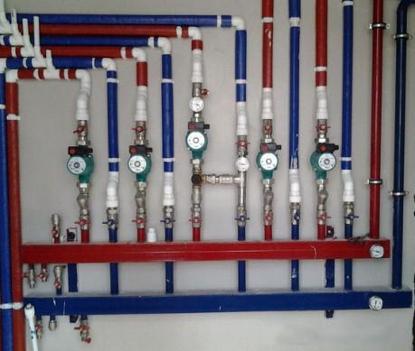 обвязка распределительного коллектора системы отопления