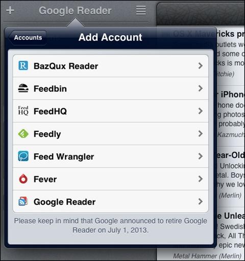 Mr. Reader - Add Account