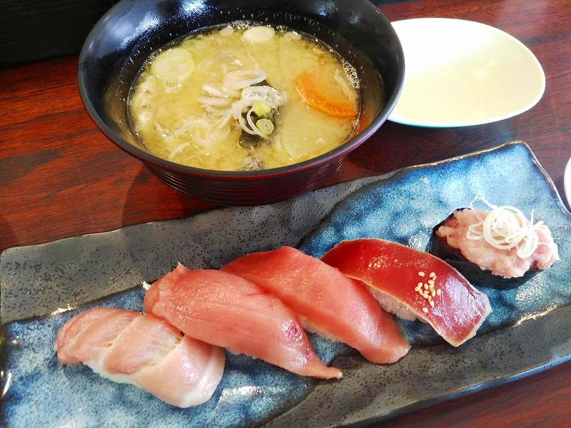 秋田市回鮮まぐろ亭寿司ランチ9