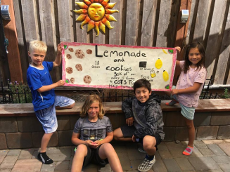 Summer break meant lots of kids raising money for COTS