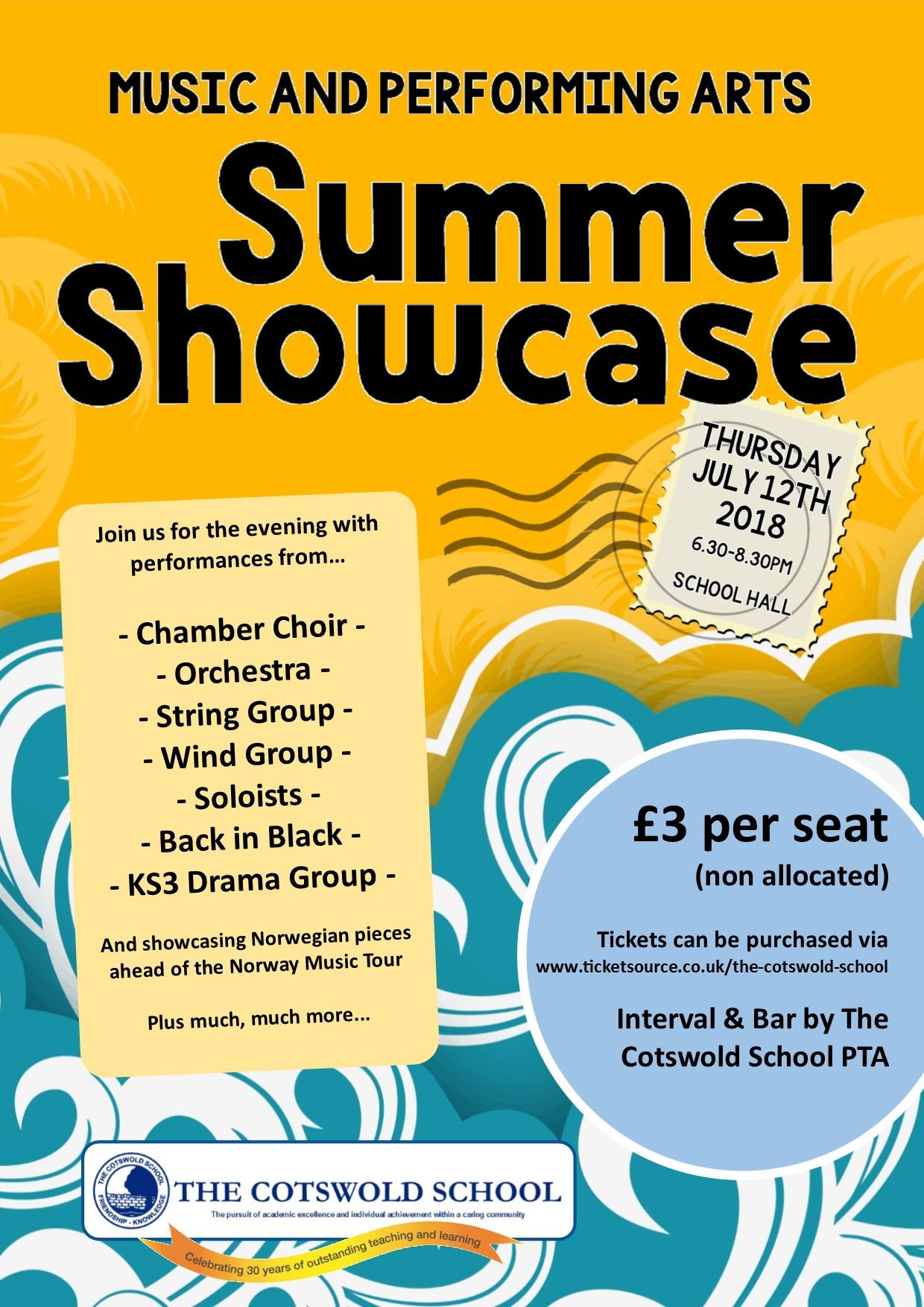Summer Showcase Poster
