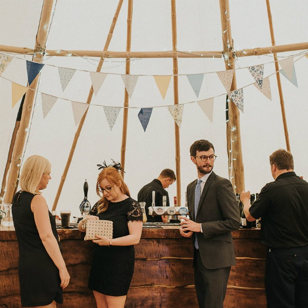 Cotswold Tipis Corporate Events at the bar