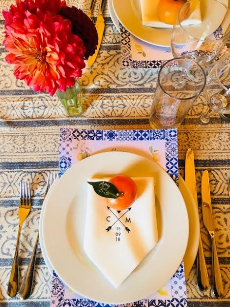 Rustic Table Setting at Max and Clemmies Tipi Wedding