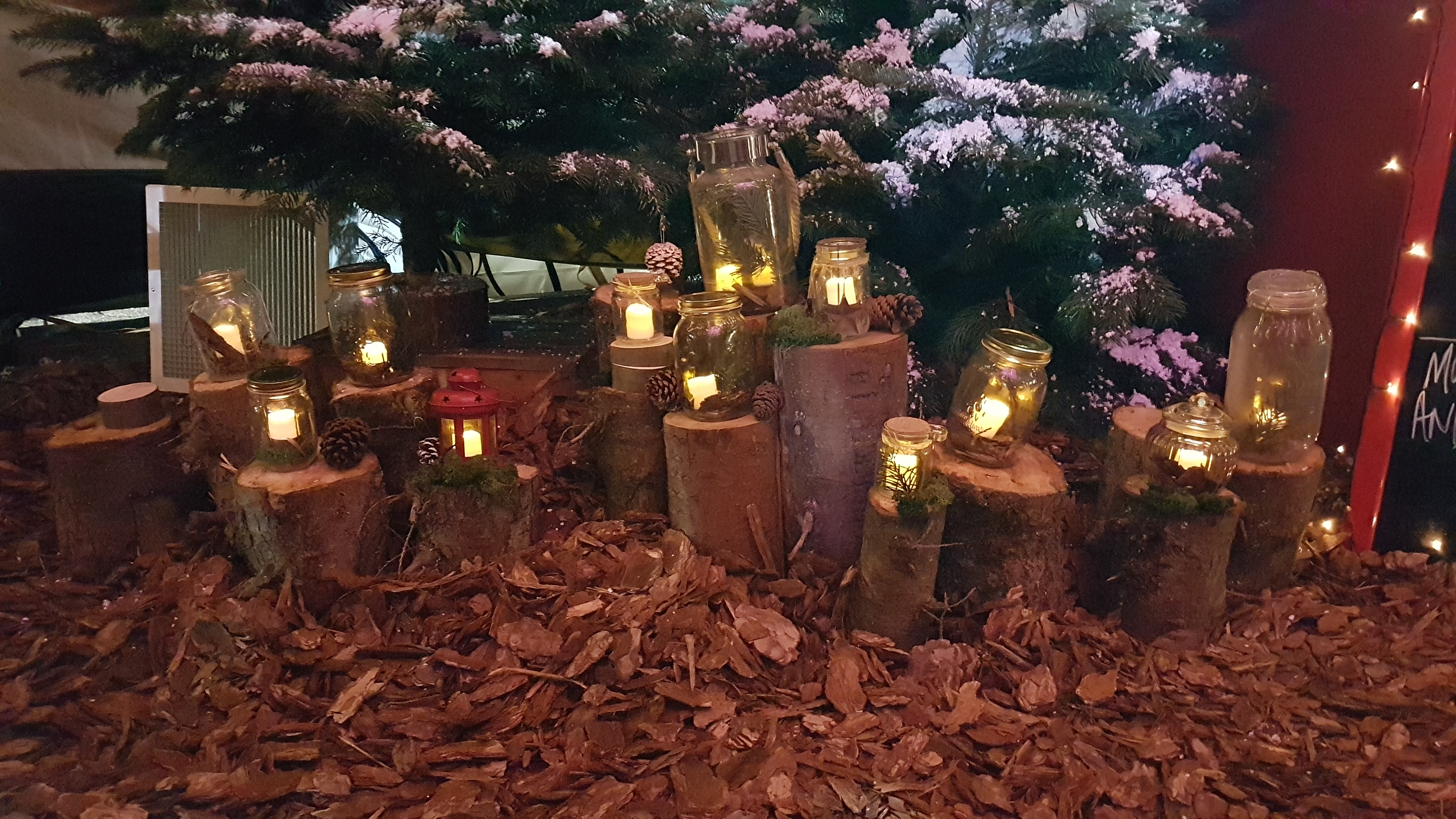 Lanterns at the Gloucester Quays Christmas Markets - Cotswold Tipis
