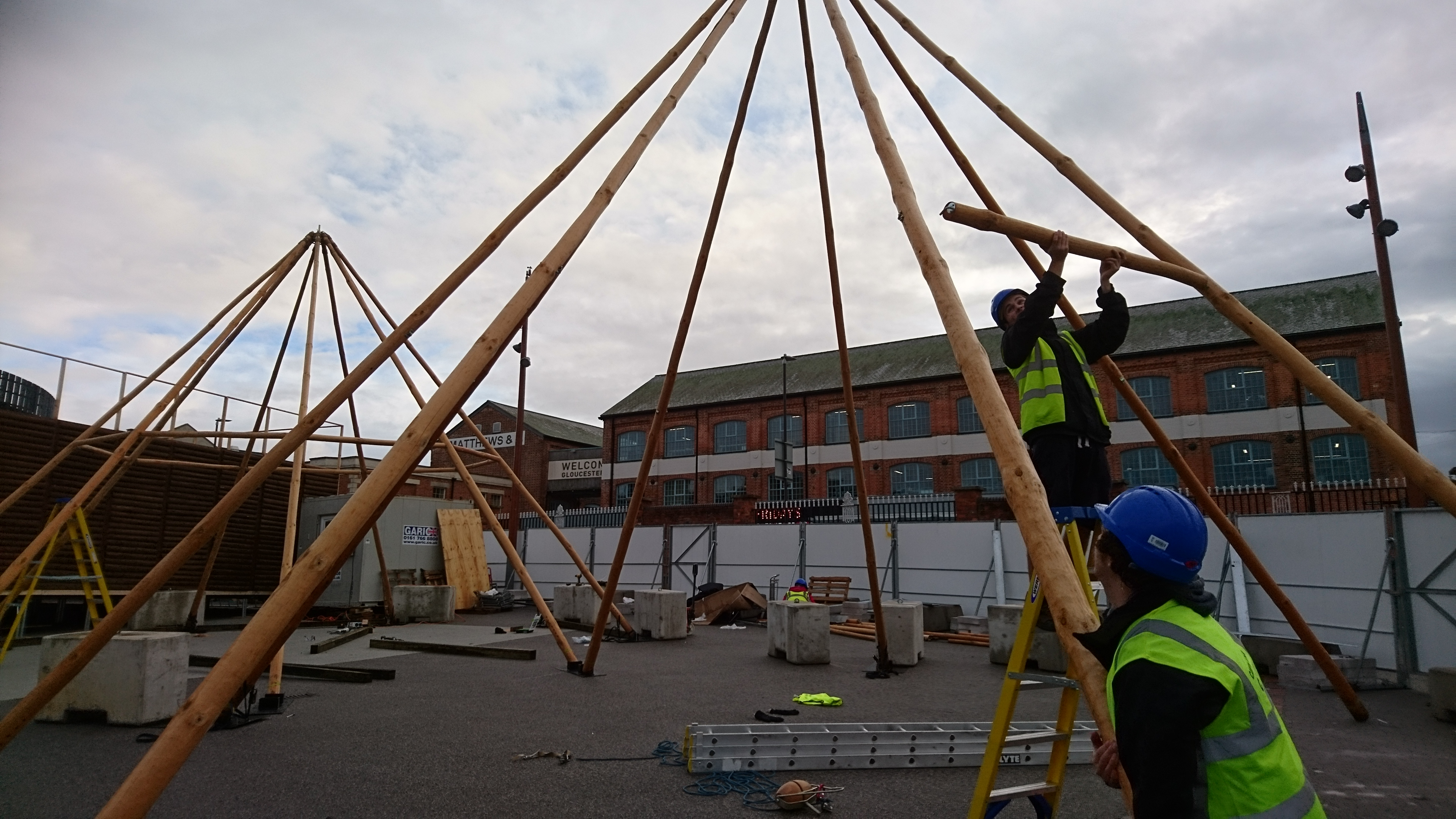 Cotswold Tipis building at Gloucester Quays