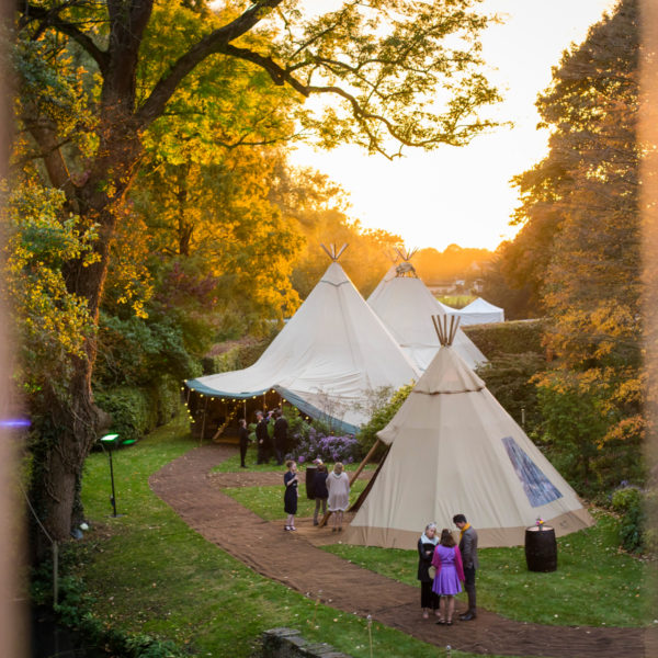 Square Cotswold Tipis by Roger Blackmore Photography