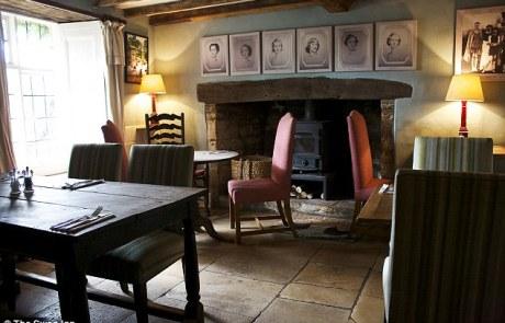 The Swan Inn Swinbrook Dining Room