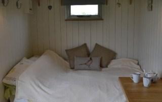 Manor Farm Shepherds Hut bedroom