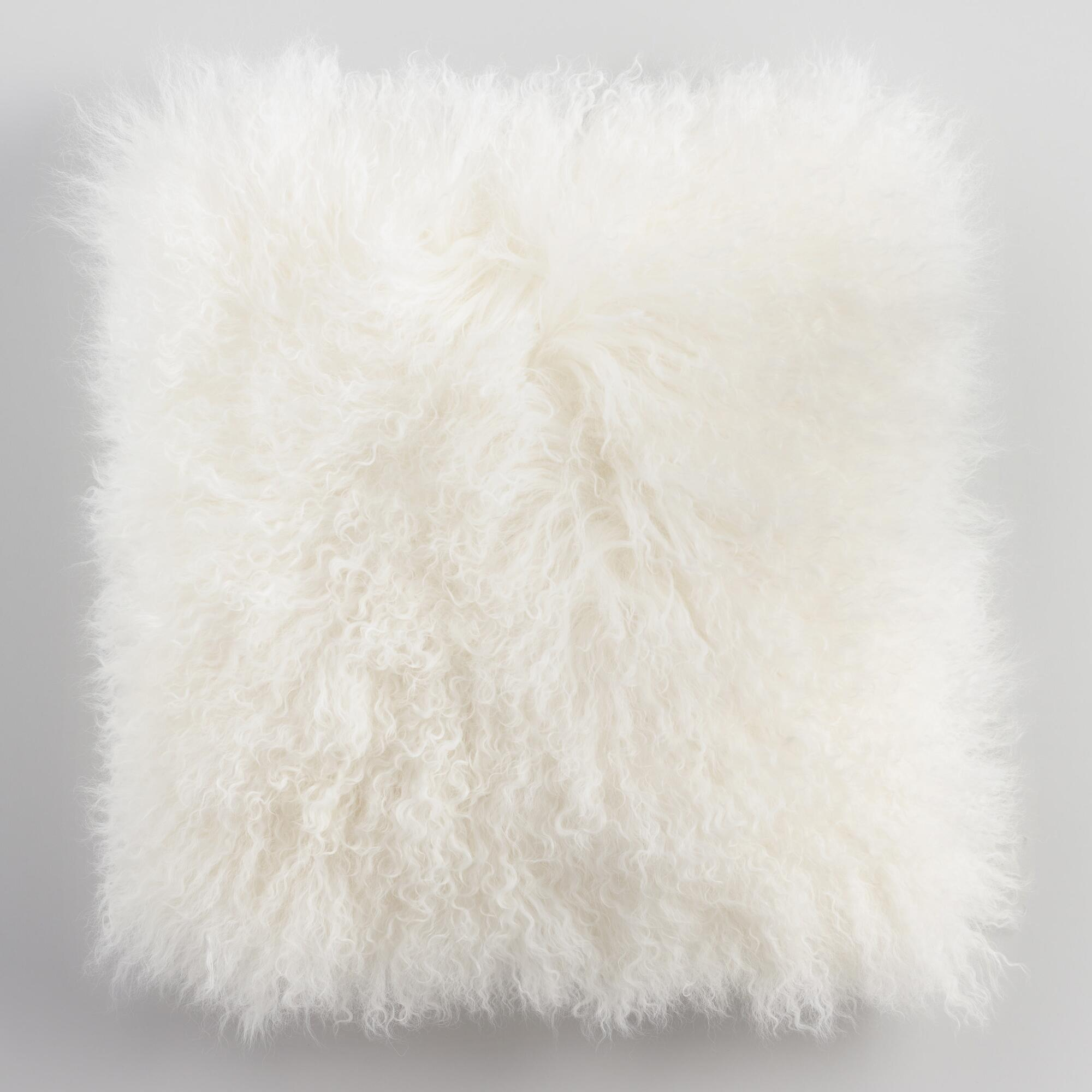 product lamb filled poly pillow mongolian overstock throw fur ombre free garden home shipping today wool