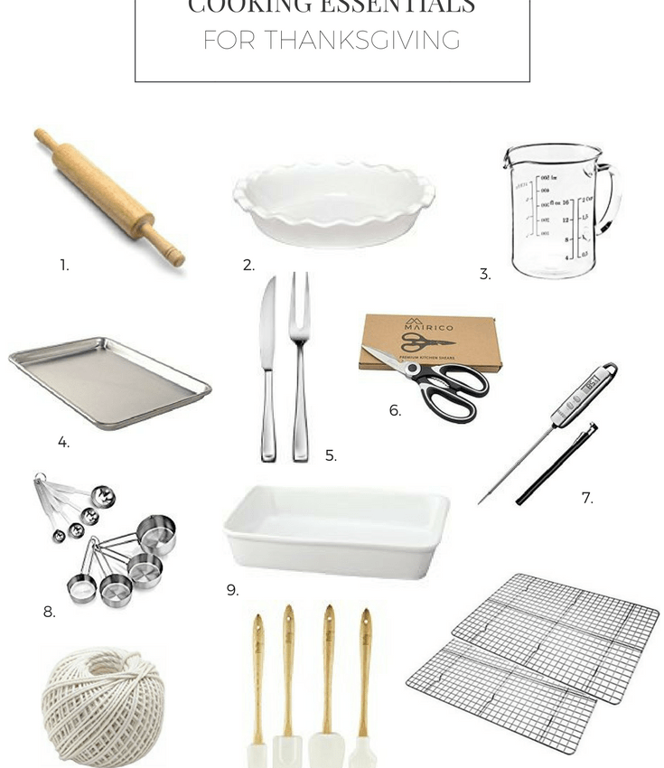 cooking essentials for thanksgiving