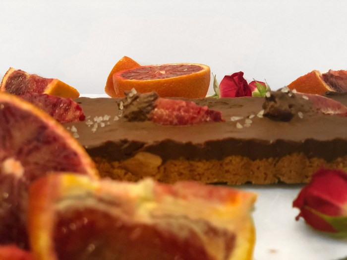 citrus and chocolate tart