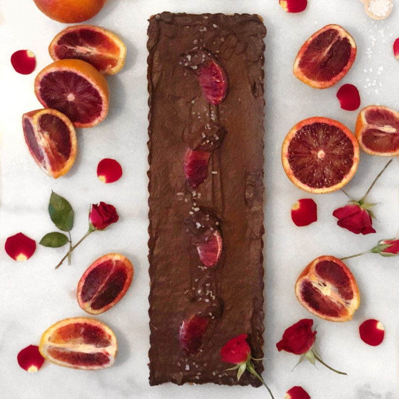 rustic chocolate tart