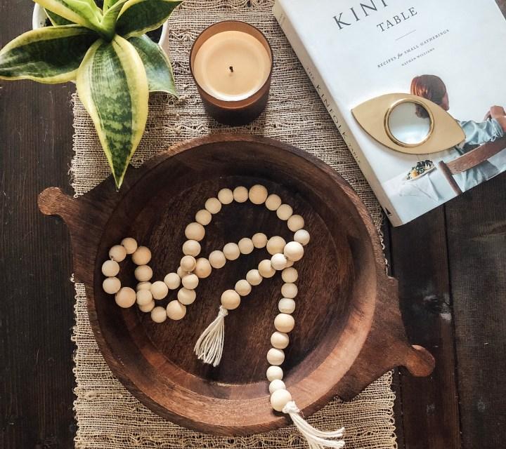 DIY wood bead tassel