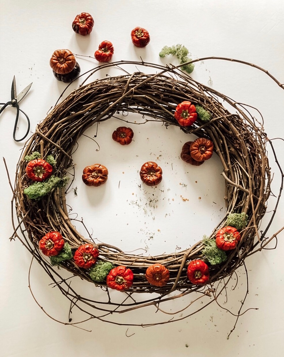 pumpkin wreath tutorial