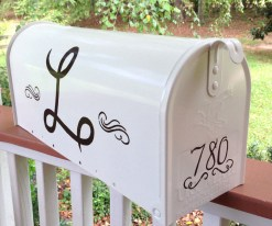personalized monogram mailbox