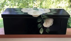 white roses wall mount