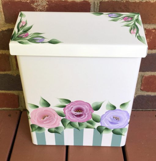 hand painted mailbox cottage roses