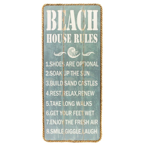 list of 8 Beach House Rules Sign