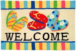 jellybean rug flip flop welcome design