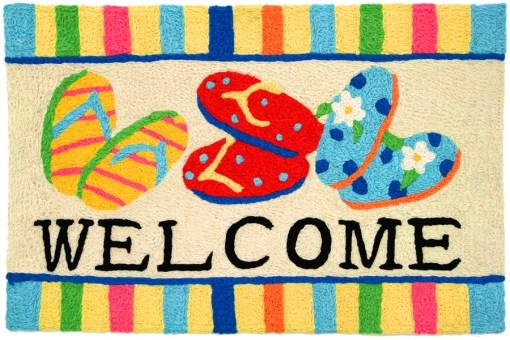 jellybean rug flip flop welcome design
