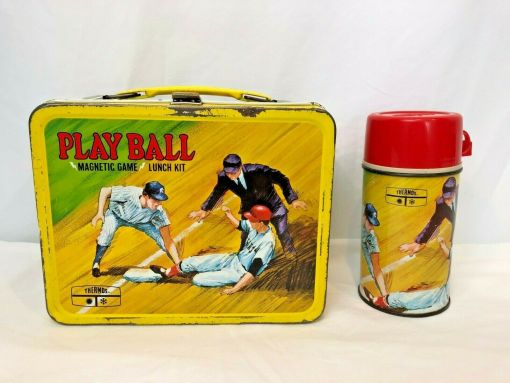 vintage baseball lunchbox
