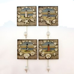 lighthouse wall hooks set of 4