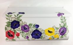 hand painted mailbox vibrant pansies