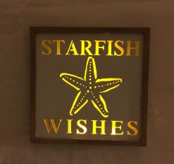 lighted starfish plaque