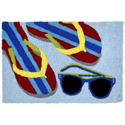 beach accents jellybean rug