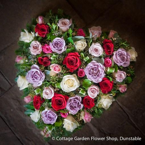 Open Rose Heart