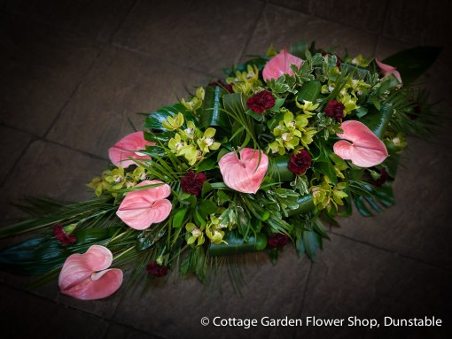 Orchid & Anthurium Casket Spray