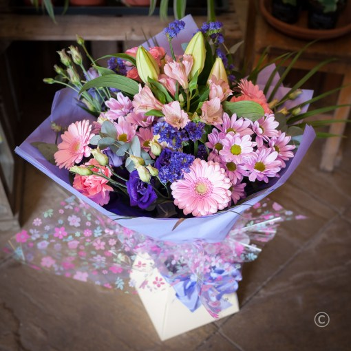 Pink & Purple Hand Tied