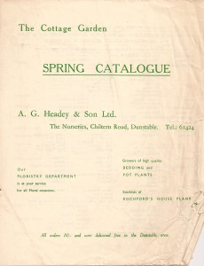 Spring Catalogue, date unknown, probably 1950's.