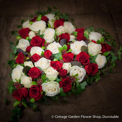 Red & White Rose Heart