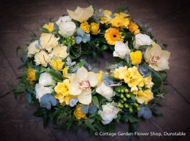 Woodland Wreath In Yellows & Creams