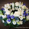 Rose & Lily Wreath In White & Blue