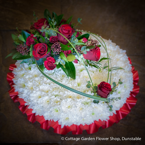 Based Posy With Red Roses
